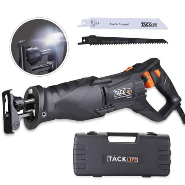 Tacklife Reciprocating Saw with Rotating Handle